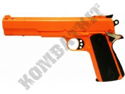 HG124 Gas Powered Airsoft BB Gun Black and Orange